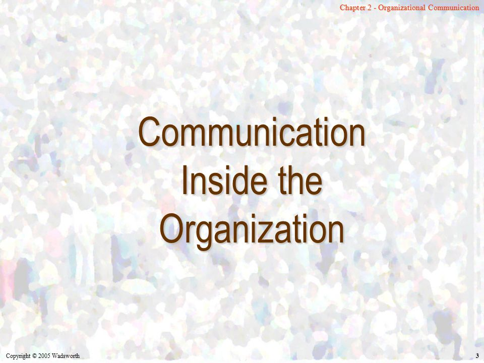 Communication Inside the Organization