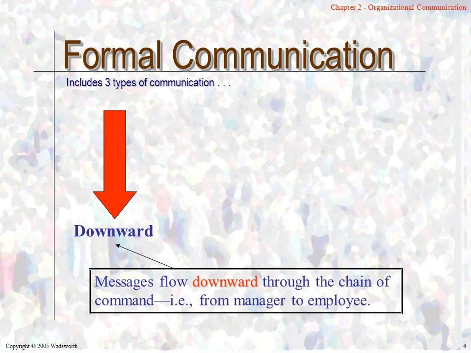 Formal Communication Downward