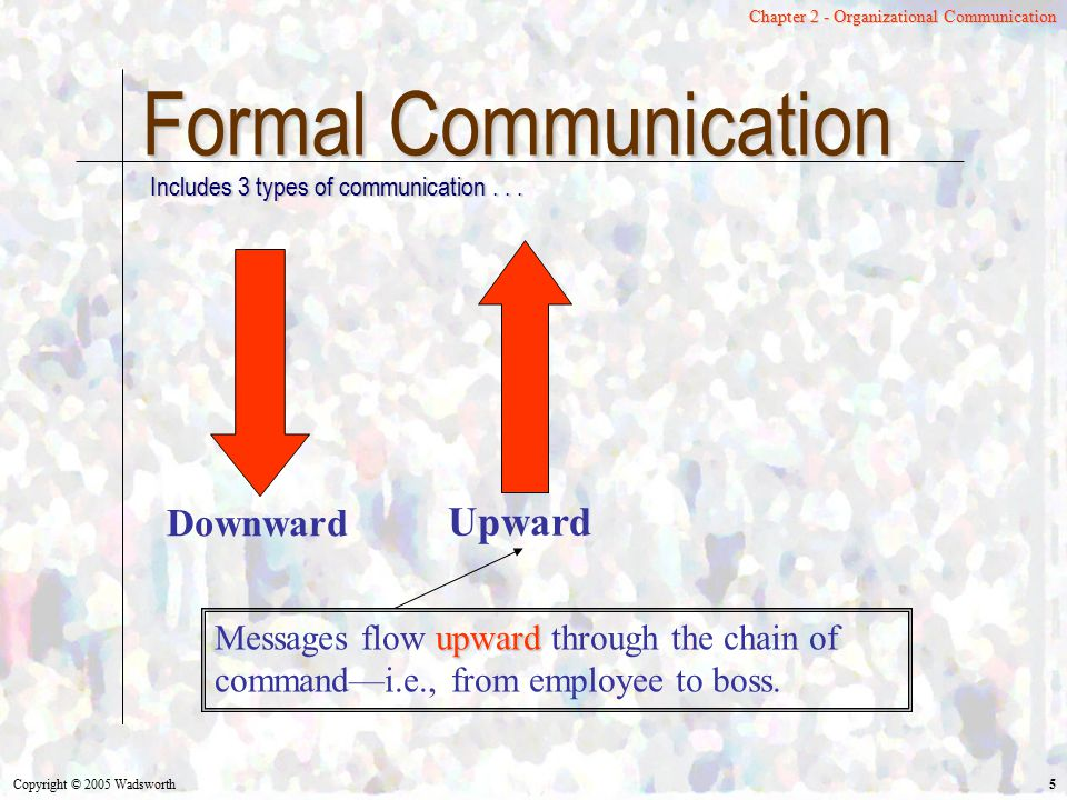Formal Communication Upward Downward