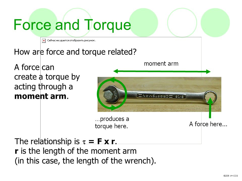 Force and Torque How are force and torque related