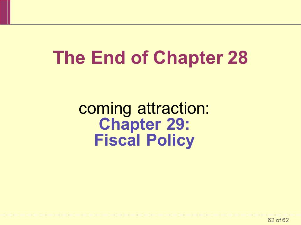 coming attraction: Chapter 29: Fiscal Policy