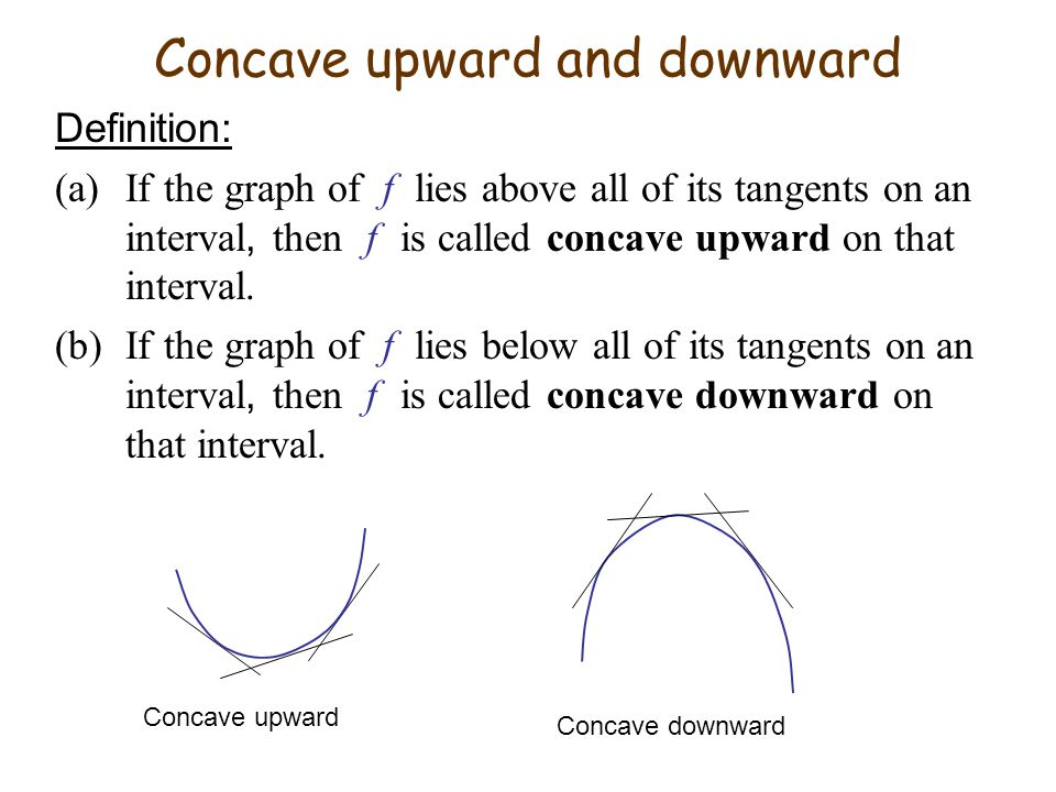 Concave upward and downward