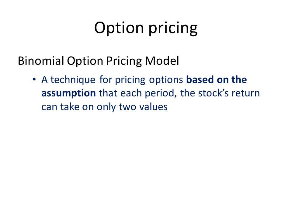 Option pricing Binomial Option Pricing Model