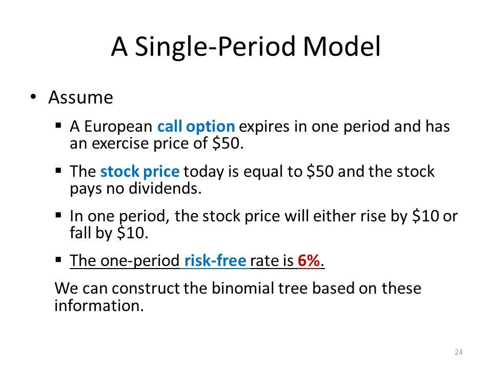 A Single-Period Model Assume
