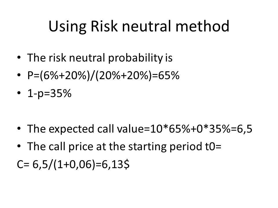 Using Risk neutral method