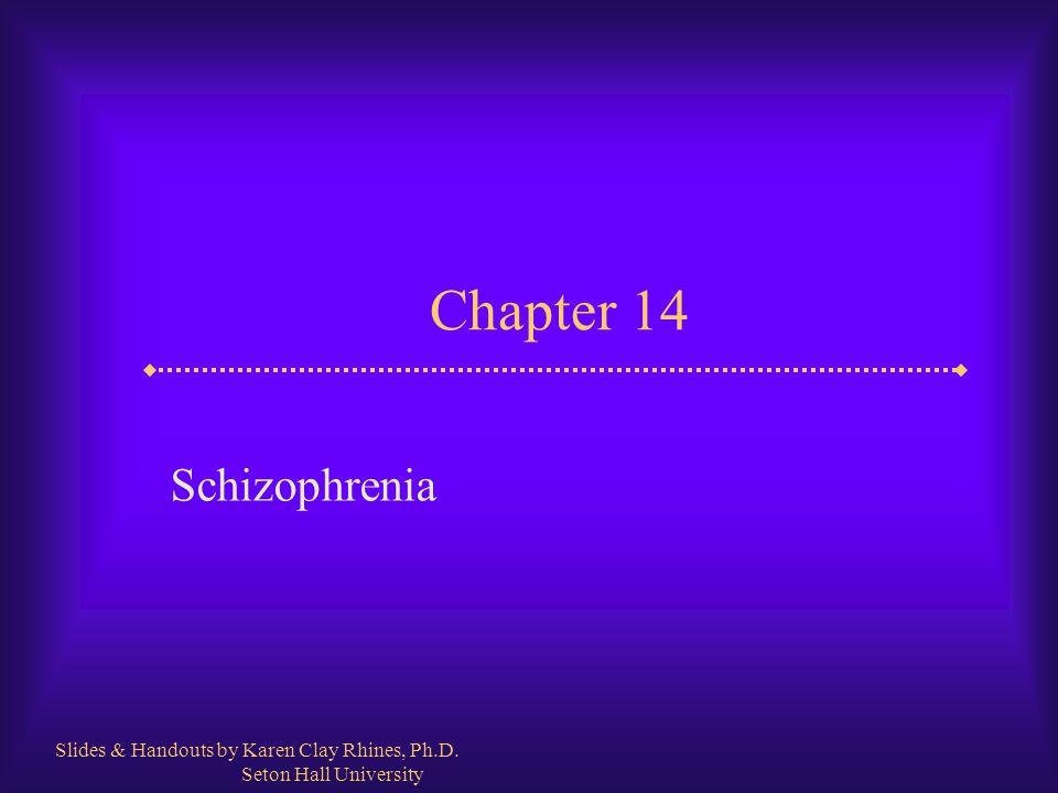 Chapter 14 Schizophrenia Slides & Handouts by Karen Clay Rhines, Ph.D.