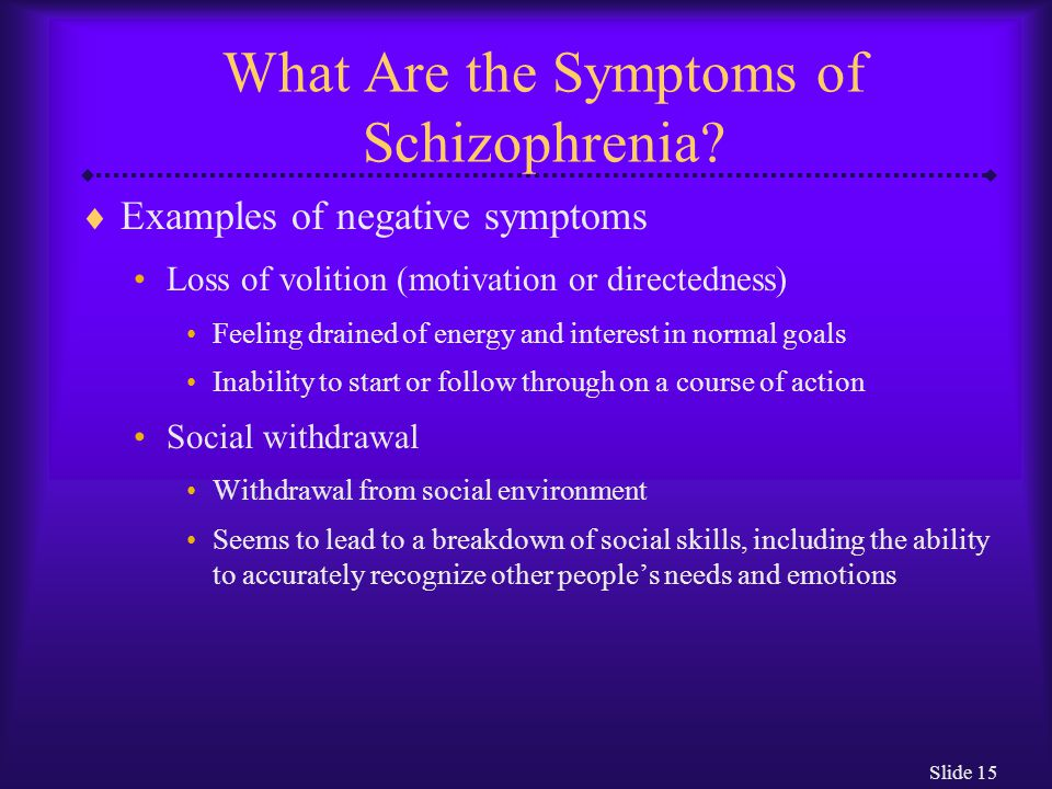 What Are the Symptoms of Schizophrenia