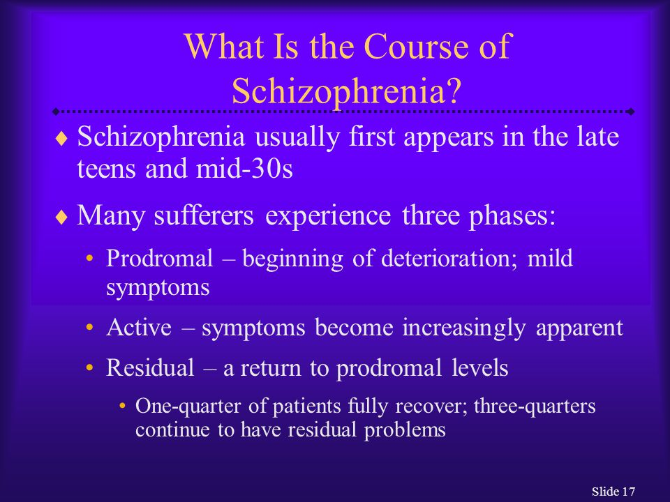 What Is the Course of Schizophrenia