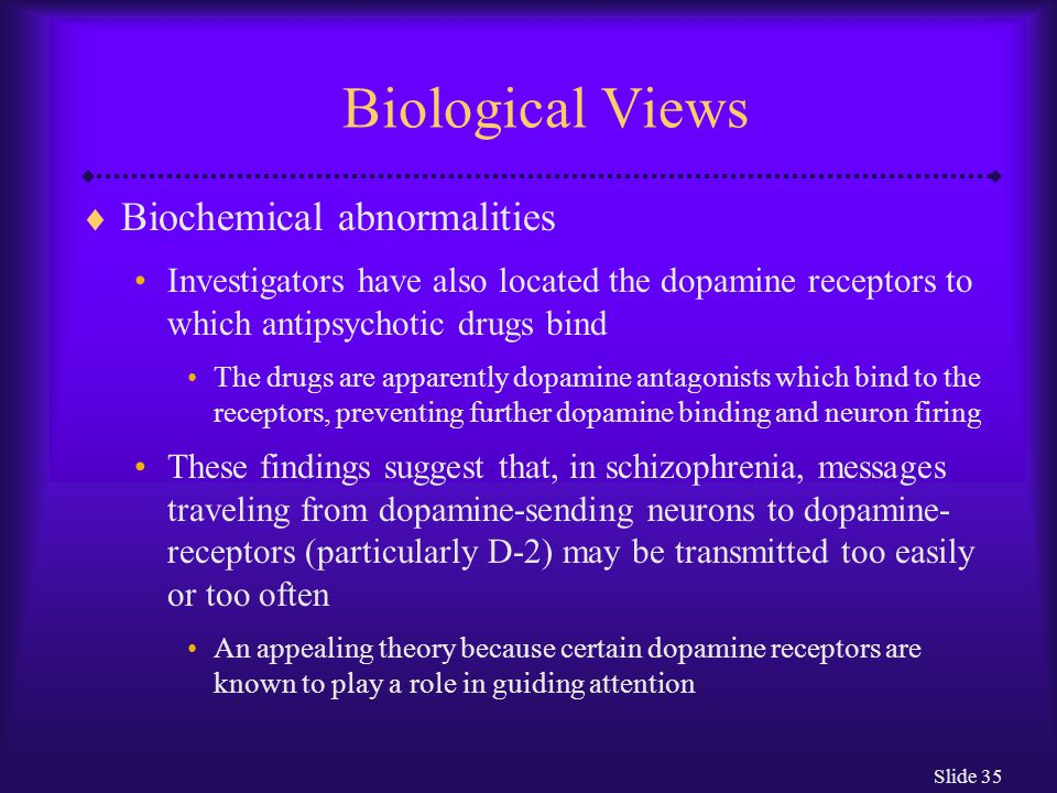 Biological Views Biochemical abnormalities