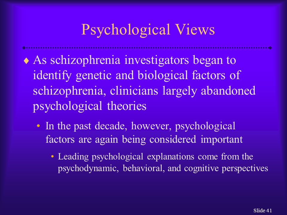 Psychological Views