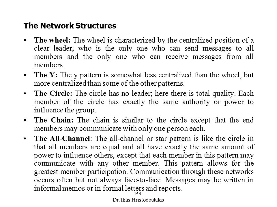 The Network Structures