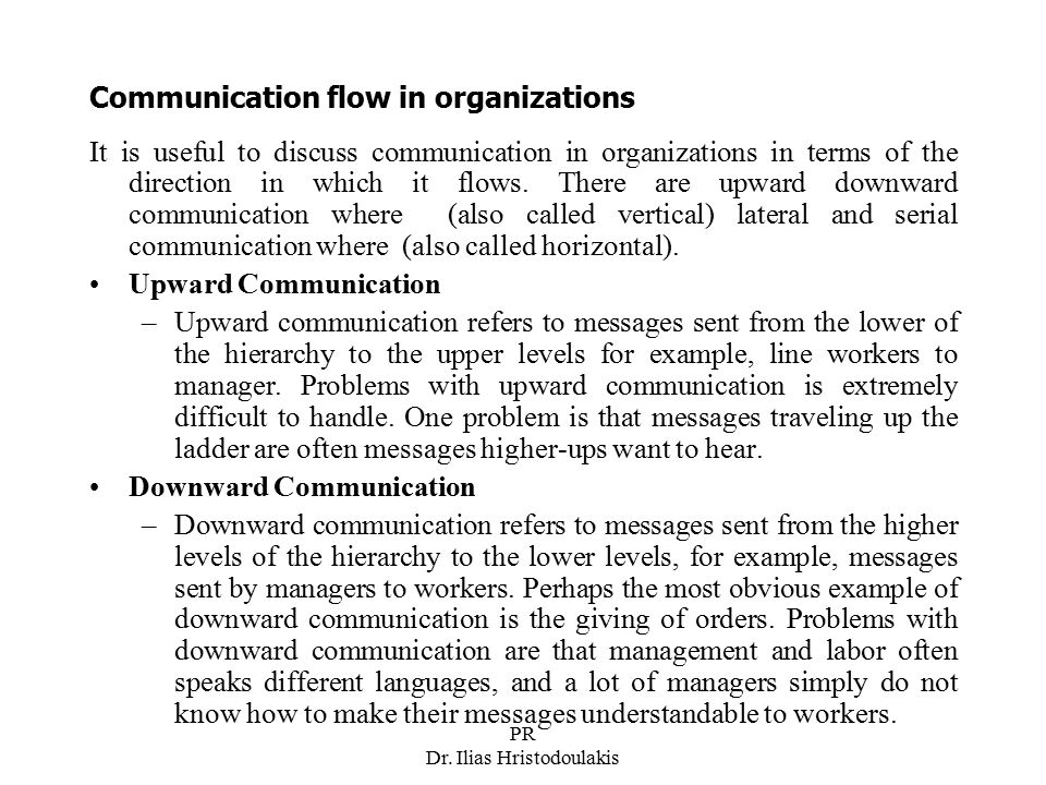 Communication flow in organizations