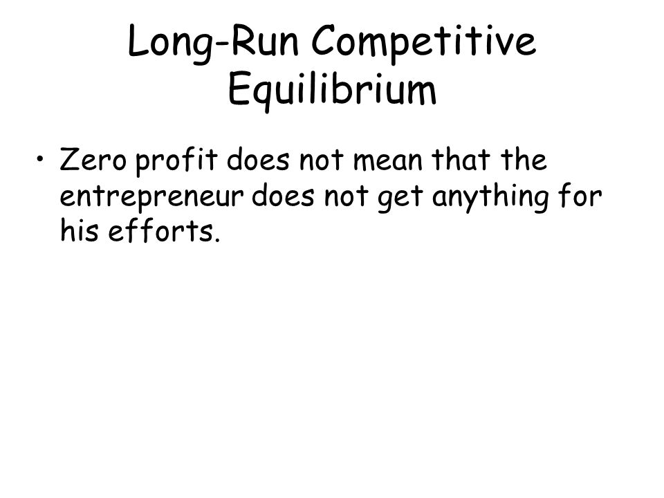 Long-Run Competitive Equilibrium