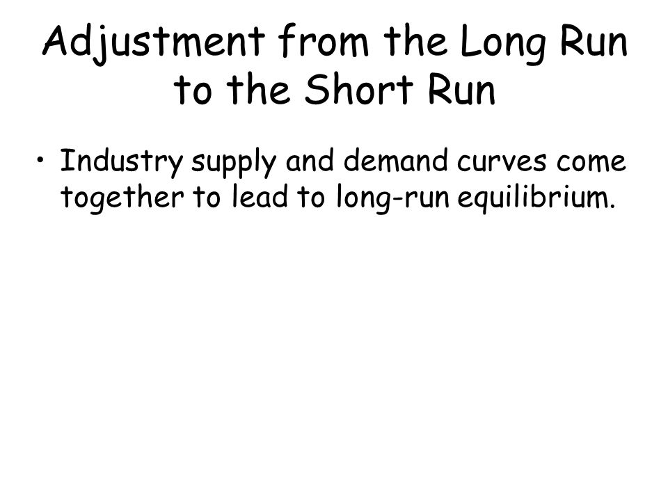 Adjustment from the Long Run to the Short Run