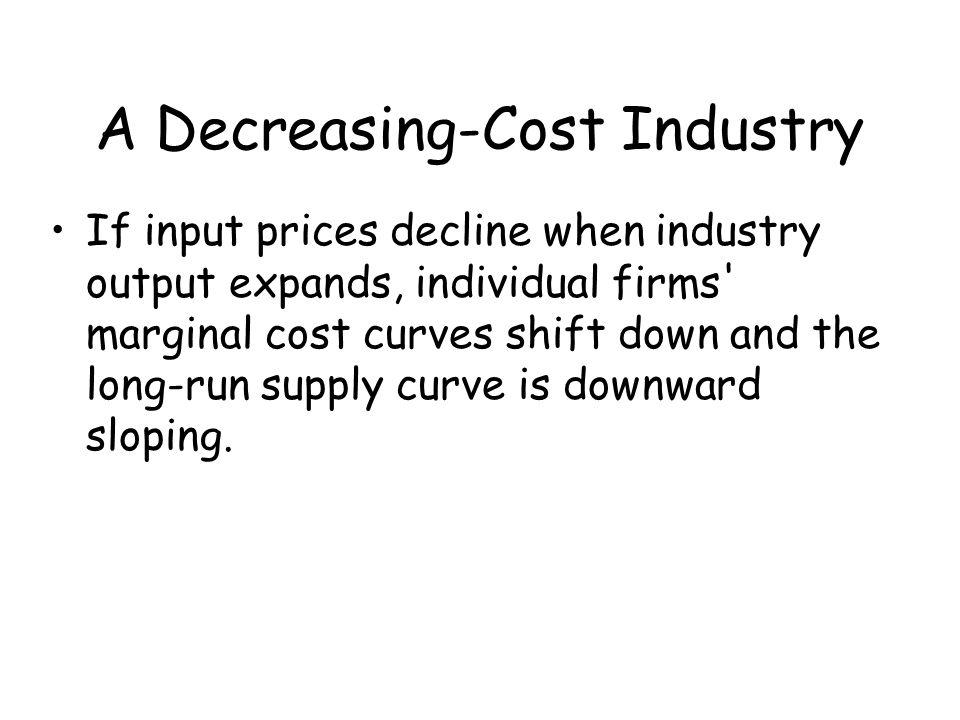 A Decreasing-Cost Industry