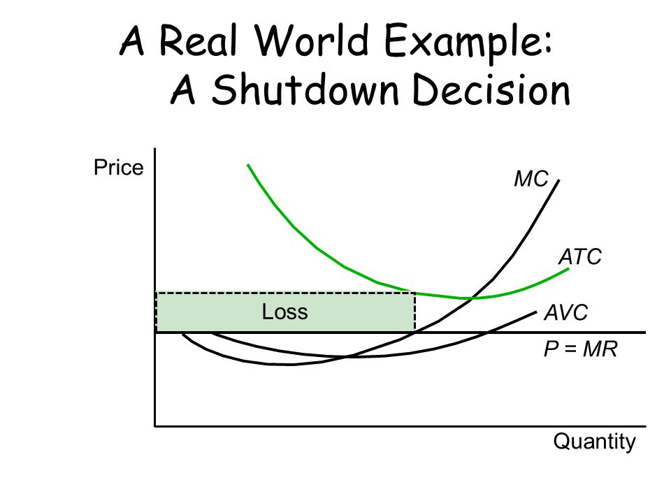 A Real World Example: A Shutdown Decision