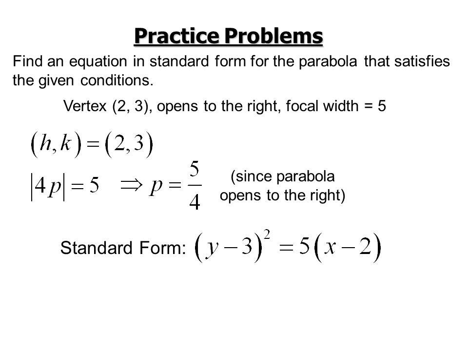 Practice Problems Standard Form: