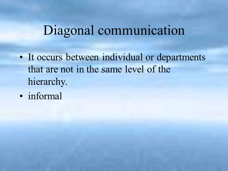 Diagonal communication