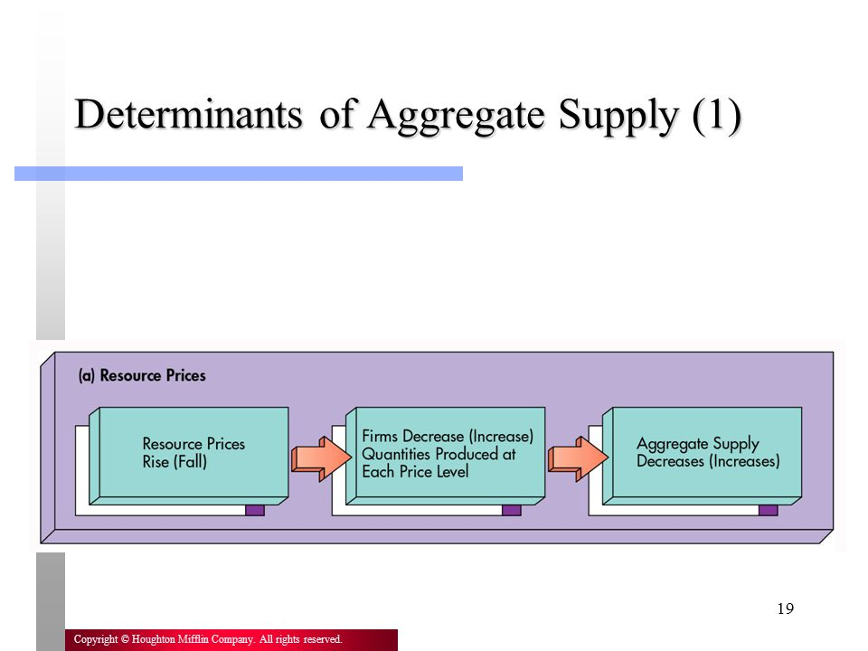 Determinants of Aggregate Supply (1)