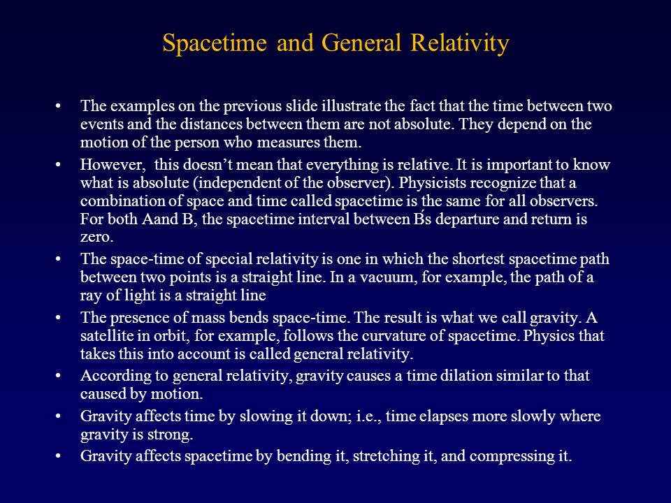 Spacetime and General Relativity