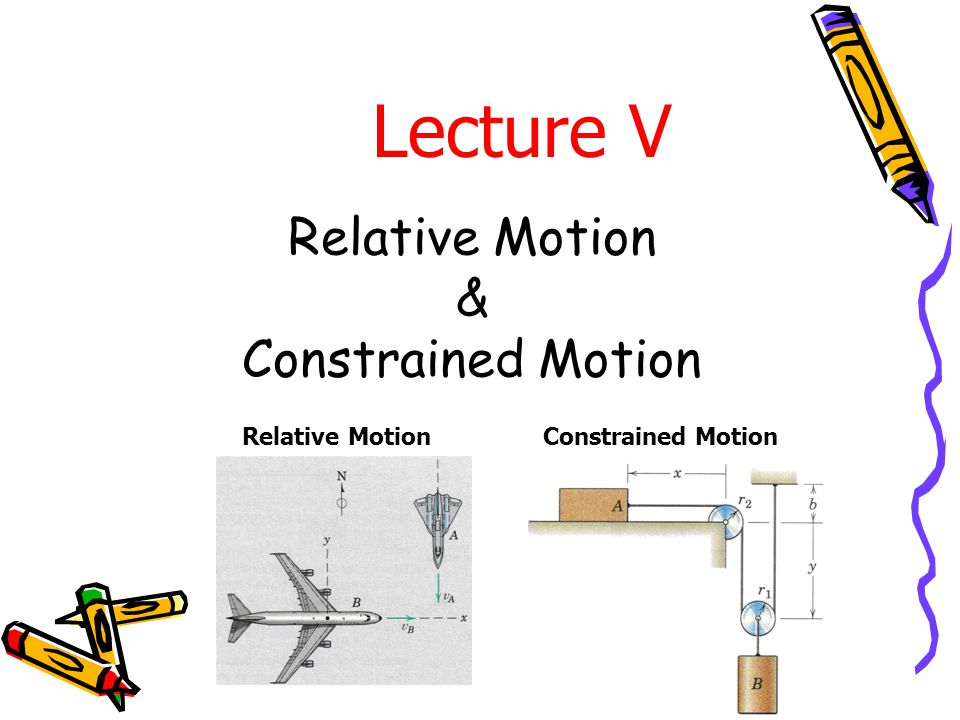 Relative Motion & Constrained Motion