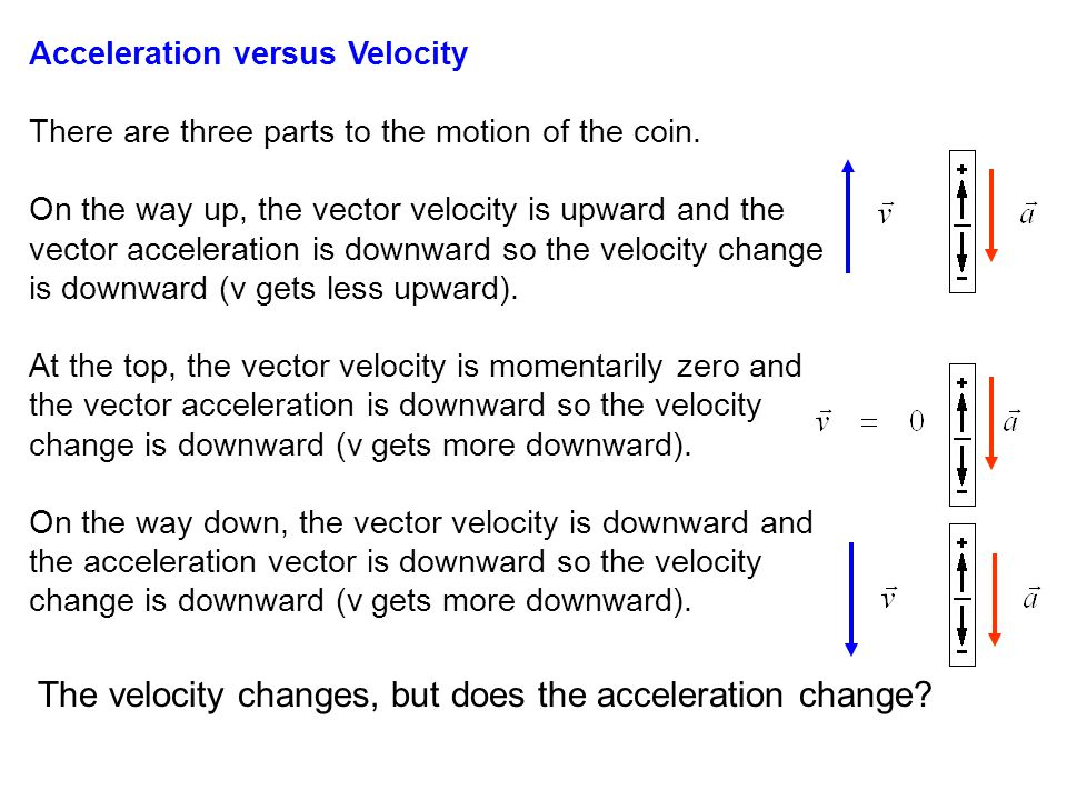 The velocity changes, but does the acceleration change
