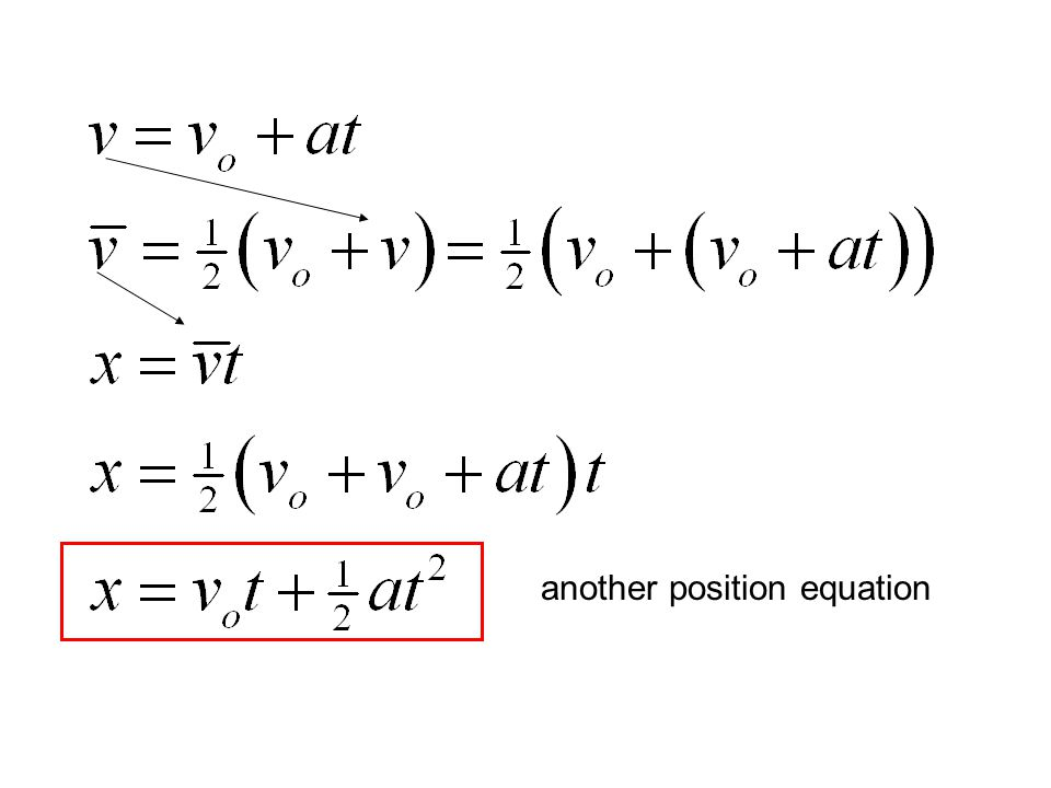 another position equation