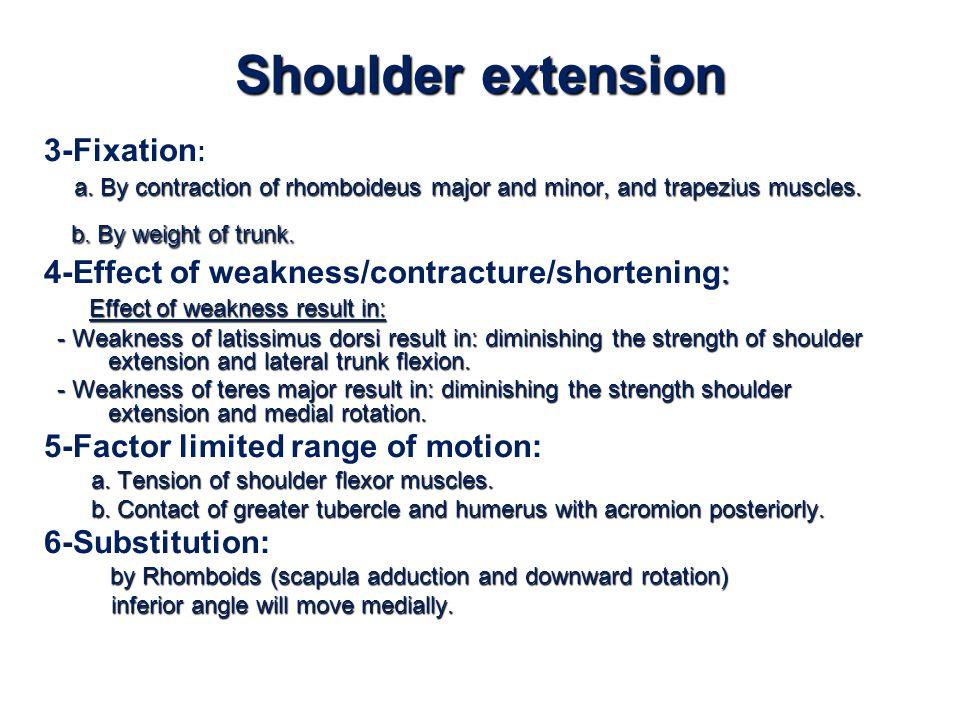 Shoulder extension 3-Fixation: