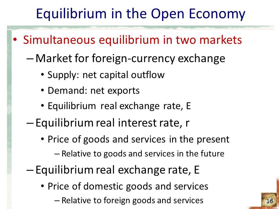 Equilibrium in the Open Economy