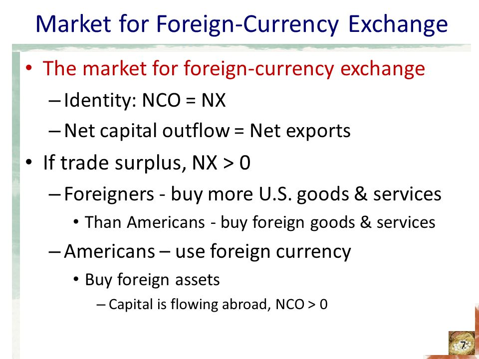 Currency exchange markets