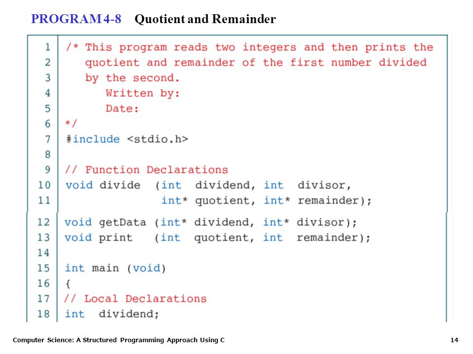 Quotient and Remainder