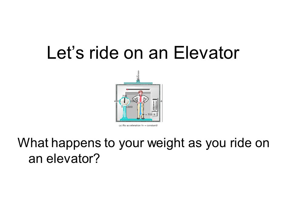 Let's ride on an Elevator