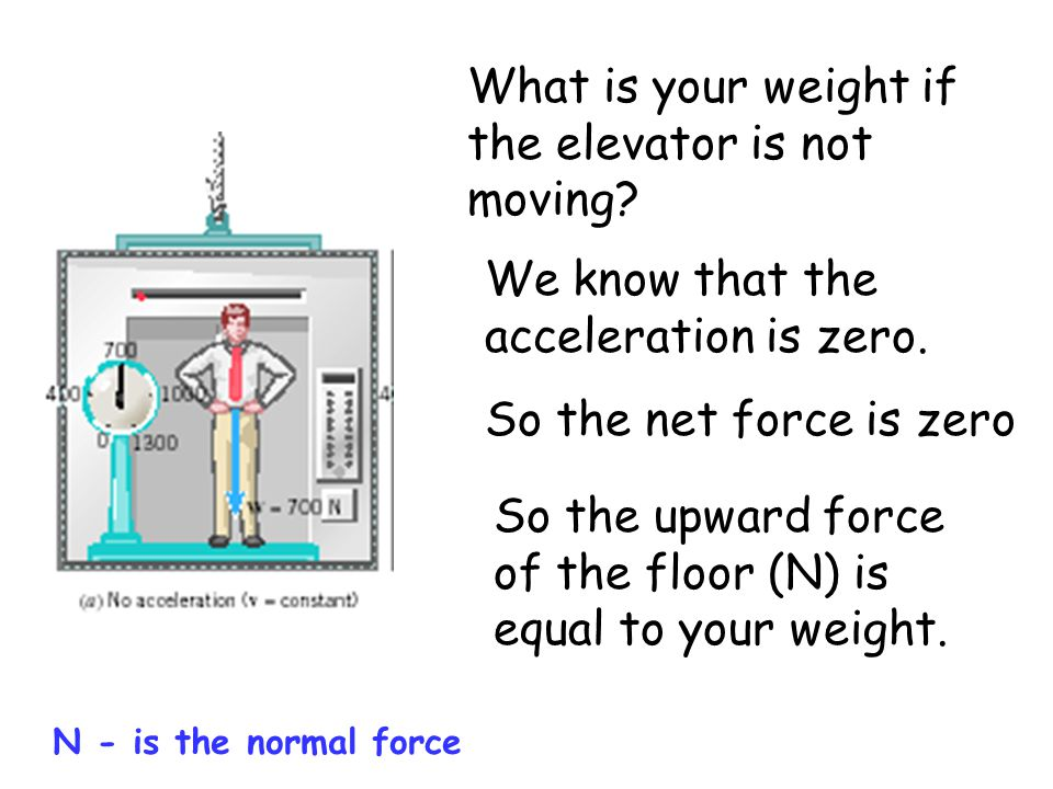 What is your weight if the elevator is not moving