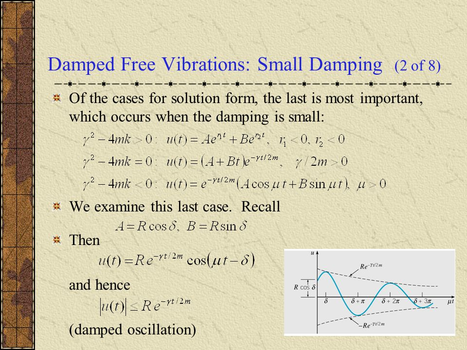 Damped Free Vibrations: Small Damping (2 of 8)