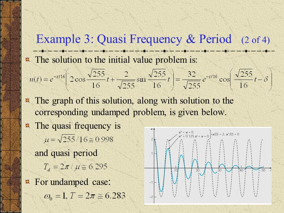 Example 3: Quasi Frequency & Period (2 of 4)