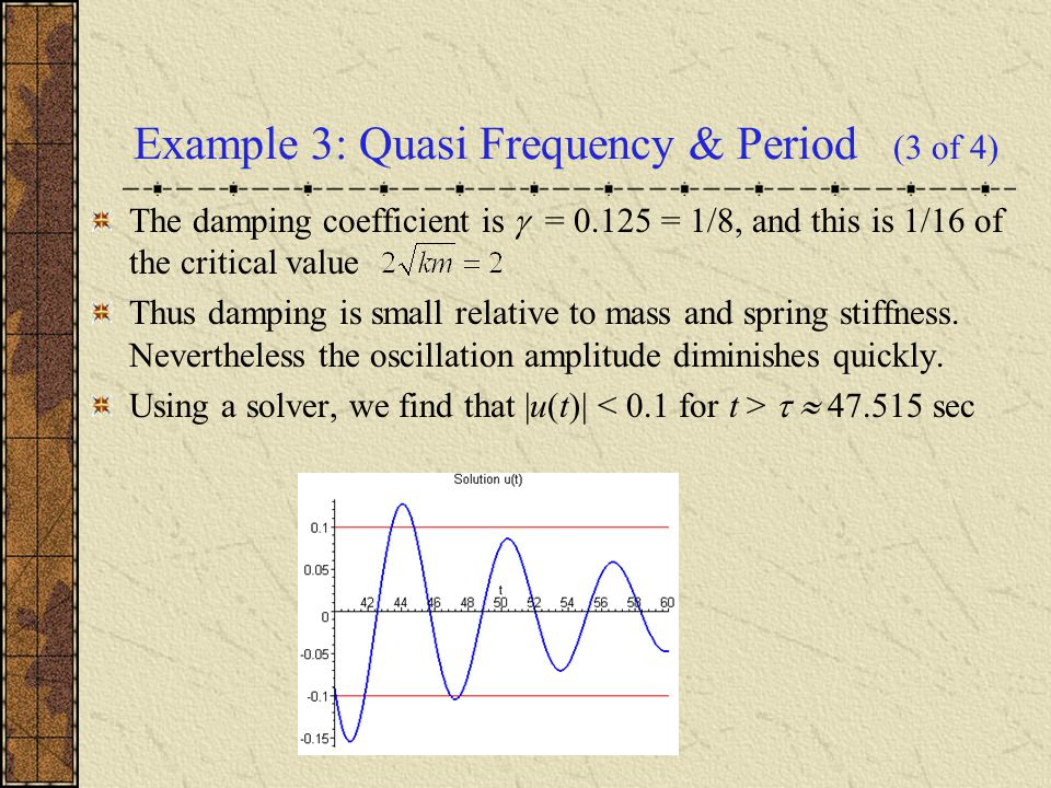 Example 3: Quasi Frequency & Period (3 of 4)