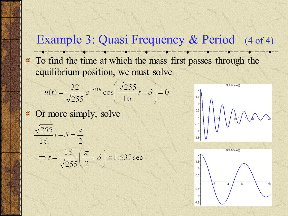 Example 3: Quasi Frequency & Period (4 of 4)