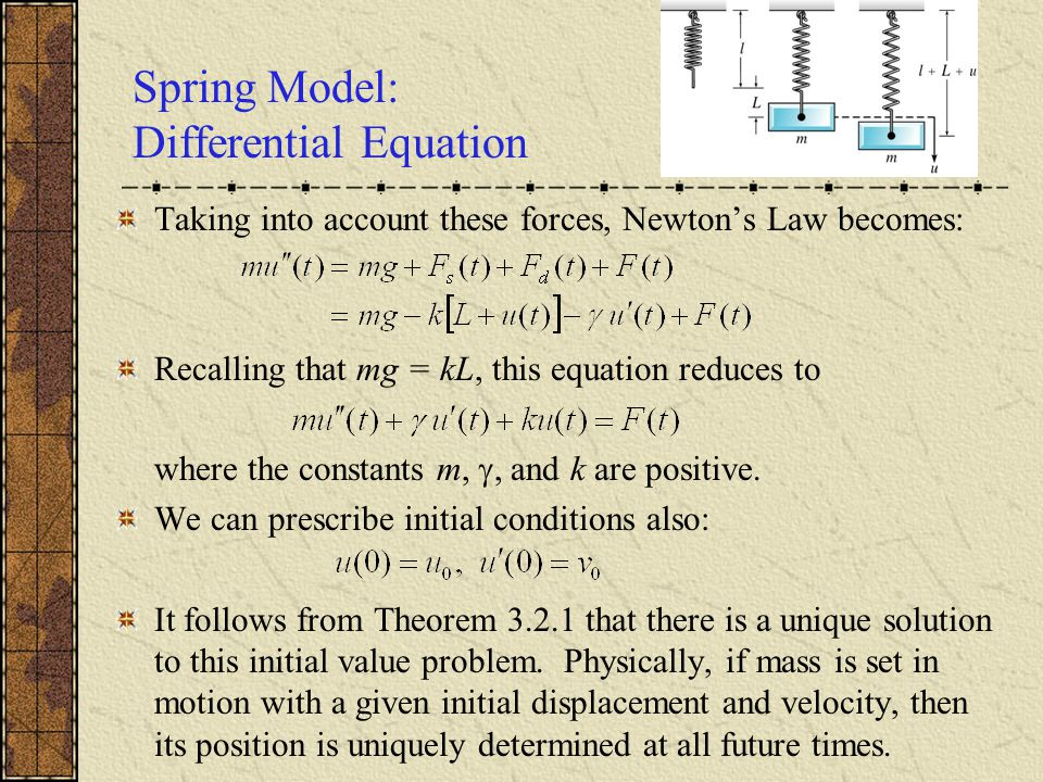 Spring Model: Differential Equation