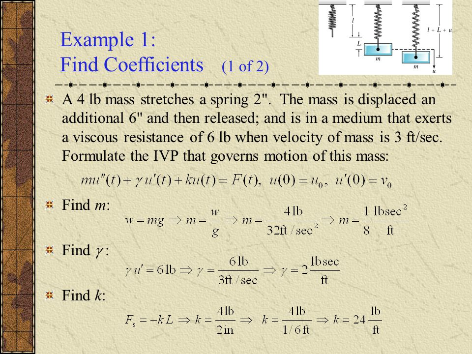 Example 1: Find Coefficients (1 of 2)
