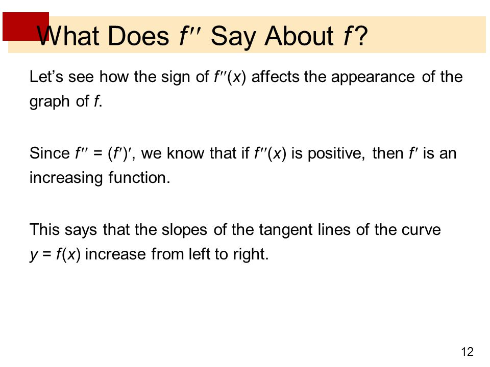What Does f  Say About f