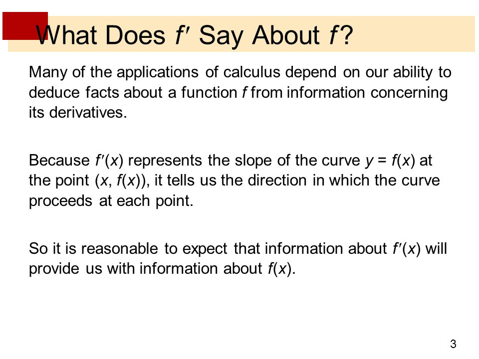 What Does f  Say About f