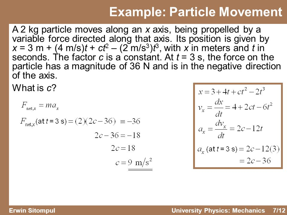 Example: Particle Movement