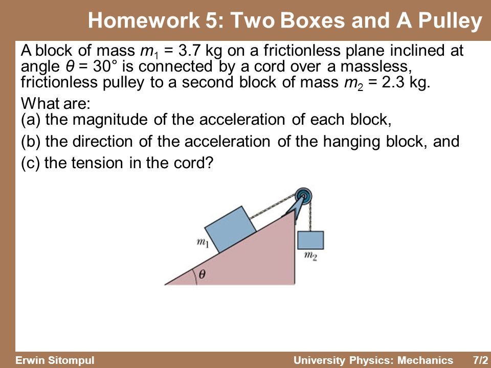 Homework 5: Two Boxes and A Pulley