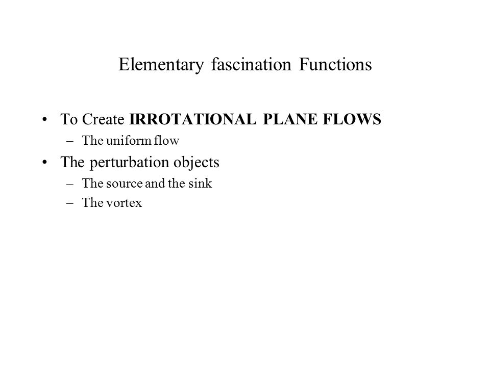 Elementary fascination Functions