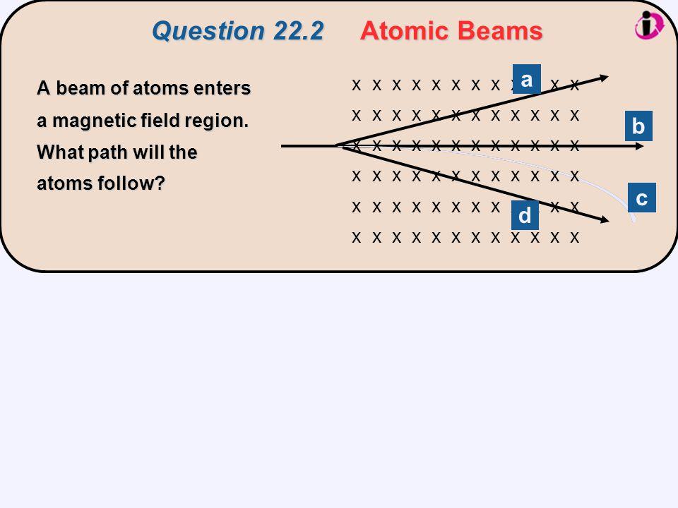 Question 22.2 Atomic Beams a b c d