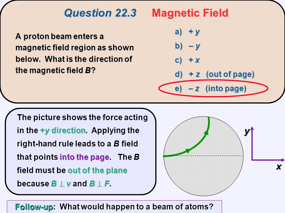 Question 22.3 Magnetic Field