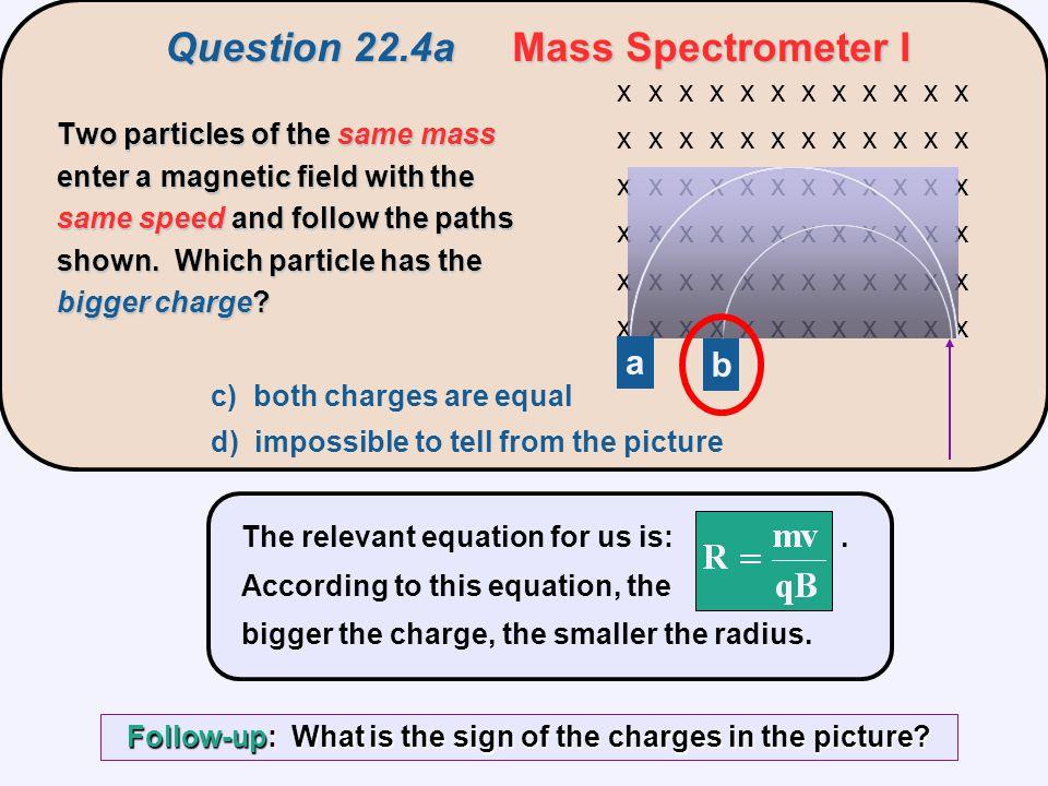 Question 22.4a Mass Spectrometer I