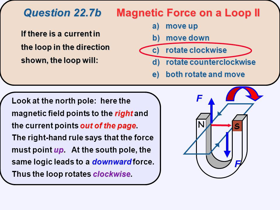 Question 22.7b Magnetic Force on a Loop II