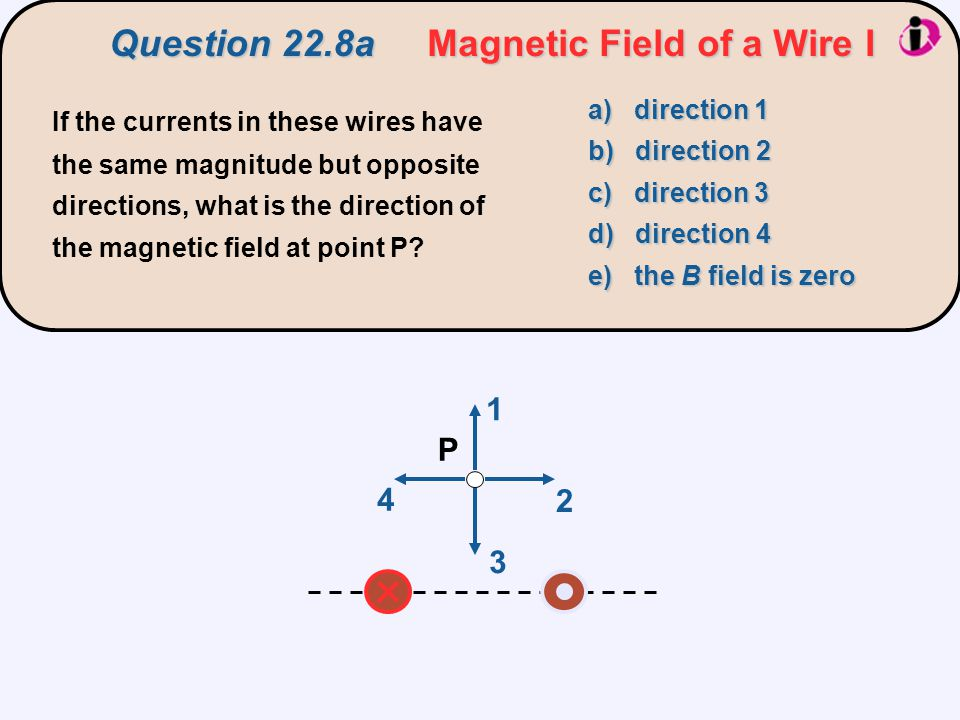 Question 22.8a Magnetic Field of a Wire I