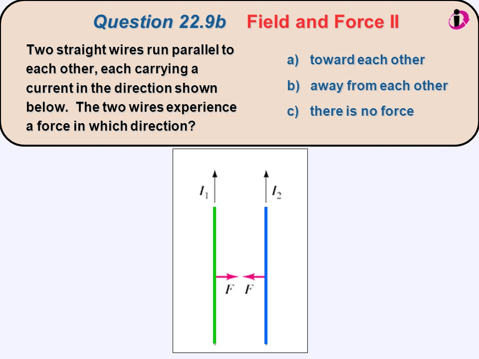 Question 22.9b Field and Force II